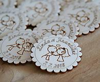 Darčeky pre svadobčanov - Svadobné magnetky bozk - 9688661_