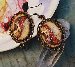 Náušnice - Bumpkinovej šperk/ Štastie pestujem - 9688300_