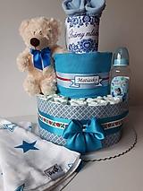 Detské doplnky - Ľudová plienková torta - s menom (plienky č.2) - 9687223_