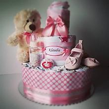 Detské doplnky - Plienková torta s menom - 9687024_