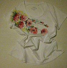 Tričká - Ruže v kytici - 9688748_