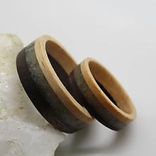 Prstene - Drevené obrúčky - 9686856_