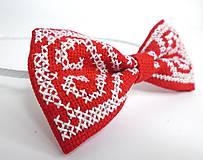 Vyšívaná folk čelenka (s bielou výšivkou)