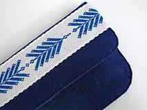 Listová kabelka s výšivkou (Tmavomodrá)