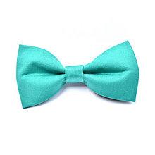 "Doplnky - motýlik jednofarebný""solid chic"" (green chic) - 9688912_"