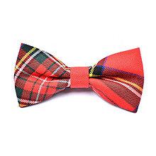 """Doplnky - Károvaný škótsky motýlik (Červený """"Stewart Royal"""") - 9689074_"""