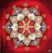 Obrazy - Mandala...Nekonečná láska - 9689367_