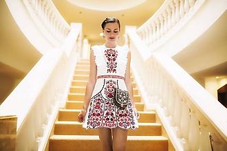 Šaty - Biele vyšívané šaty Slavianka - 9689230_