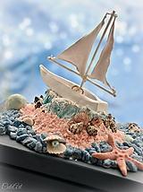 Krabičky - Plachetnica na mori - šperkovnica  - 9687778_