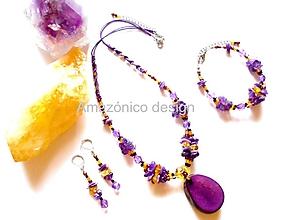 Sady šperkov - Tagua violeta - 9687297_