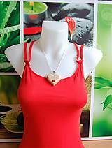 Náhrdelníky - Drevený náhrdelník - Srdce, priamy zásah 2 - 9687644_
