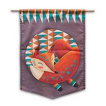 Dekorácie - Flag - Sleeping Foxy - 9687065_