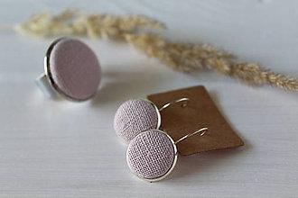 Sady šperkov - Set- ľanové náušnice+prsteň - 9687087_