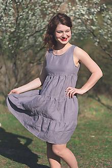 Šaty - miljö ľanové šaty - leende - 9686523_