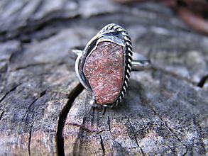 Prstene - Strieborny prsteň Ag 925 Slnečný kameň - 9686018_