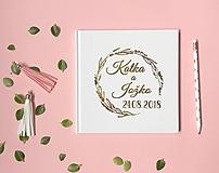 - Personalizovaná svadobná kniha hostí Meadow (Biela) - 9687225_