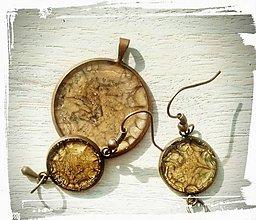Sady šperkov - Hnedý set - 9687265_