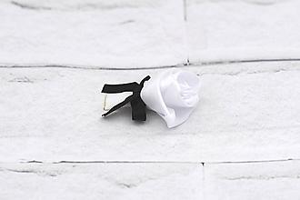 Pierka - Pierko biele ruža (bielo-čierne) - 9686782_