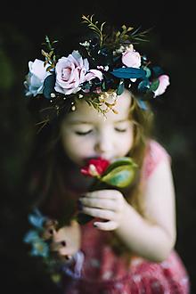 """Ozdoby do vlasov - Kvetinový polvenček """"bláznivá láska"""" - 9686669_"""