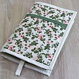 Úžitkový textil - Pre knihomoľov - Zeleno ružová romantika  XL - 9687805_