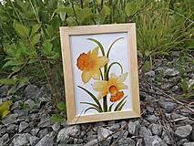 - Sklenený obrázok v drevenom rámiku - 9689242_
