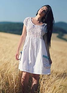 Šaty - Luční kvítí - bílé - 9686147_