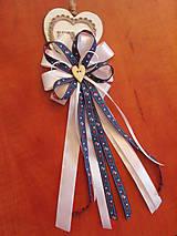 Pierka - Č. 294 Folklórne pierko pre starejšieho v modrom - 9687561_
