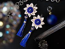 Náušnice - Náušnice: Kvety s dlhými strapcami - 9689272_