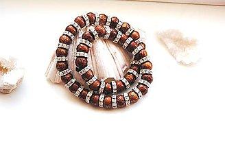 Korálky - Markíza šatónové rondelky a sklenené perličky - 9686099_