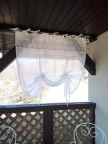 Úžitkový textil - Ľanová záclonka Charming Cottage - 9689128_