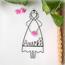 Detské doplnky - dievčatko s kvetom  (Ružová) - 9691391_
