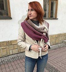 Šály - Fanco ŠÁLOŠÍP (pre)pletený - Pfeilraupe - 9691282_