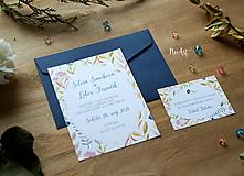 Papiernictvo - Svadobné oznámenie 43 - 9690933_