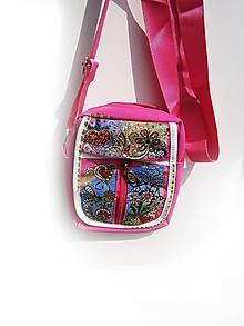 Taštičky - lelka mini kabelka folková-kvetinová 12 - 9690686_