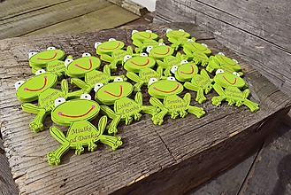 Magnetky - žabky s gravírovaním - 9690077_