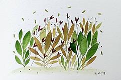 Papiernictvo - Listy ilustrácia pohľadnica / originál maľba - 9690089_