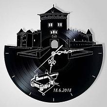 Hodiny - Kežmarský hrad - vinylové hodiny (vinyl clocks) - 9691698_