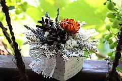 Dekorácie - Kvetinová krabička - 9690026_