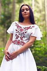 Šaty - Svadobné šaty s červenou výšivkou - 9689889_