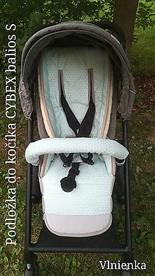 Textil - Podložka do kočíka CYBEX balios S proti poteniu 100 %merino top super wash MINT - 9692280_