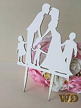 Dekorácie - Zápich do torty rodinka - 9691199_