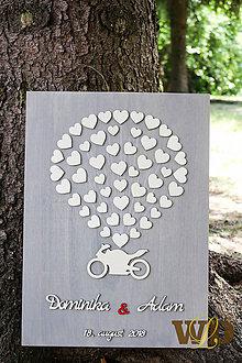 Dekorácie - Svadobná motorka - svadobný strom - 9691495_