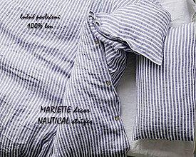Úžitkový textil - lněné povlečení NAUTICAL stripes - 9691175_