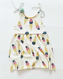 Detské oblečenie - Šaty BIO Zmrzlina - 9692691_