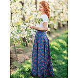 Sukne - MARÍNA - kvetinová maxi sukňa - 9692411_