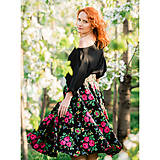 - MARÍNA - kruhová kvetinová sukňa - 9692412_