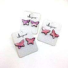 Náušnice - Motýlik - 9691657_