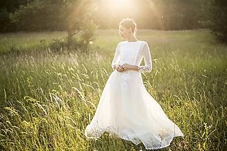 Šaty - Dlhé ľanové šaty Slavianka - 9689425_