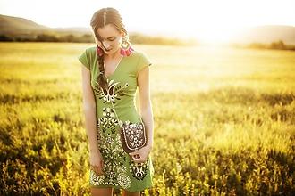 Šaty - Zelené šaty Slavianka - 9689468_