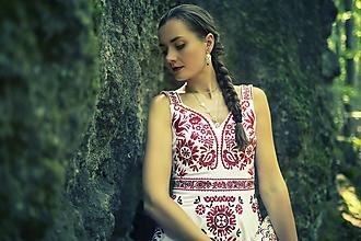 Šaty - Biele vyšívané šaty Slavianka - 9689646_